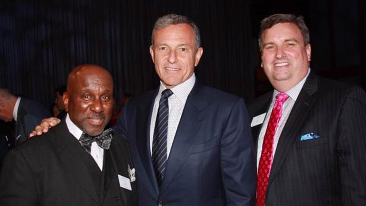From left to right: Ken Bedford, ABC7 Photographer; Robert Iger, Chairman and CEO of The Walt Disney Company; John Idler, ABC7 Chicago President and General Manager.
