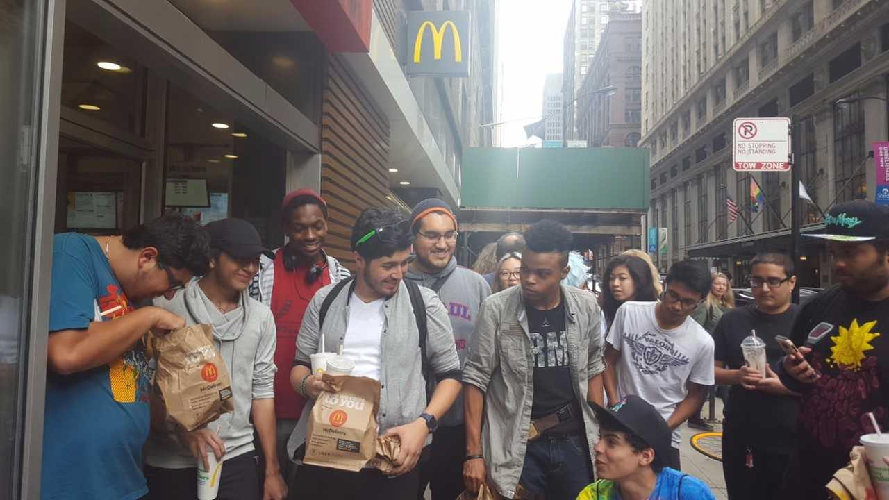 Fans of McDonalds Szechuan sauce lined up at several McDonalds locations Saturday for the sauces one-day comeback.
