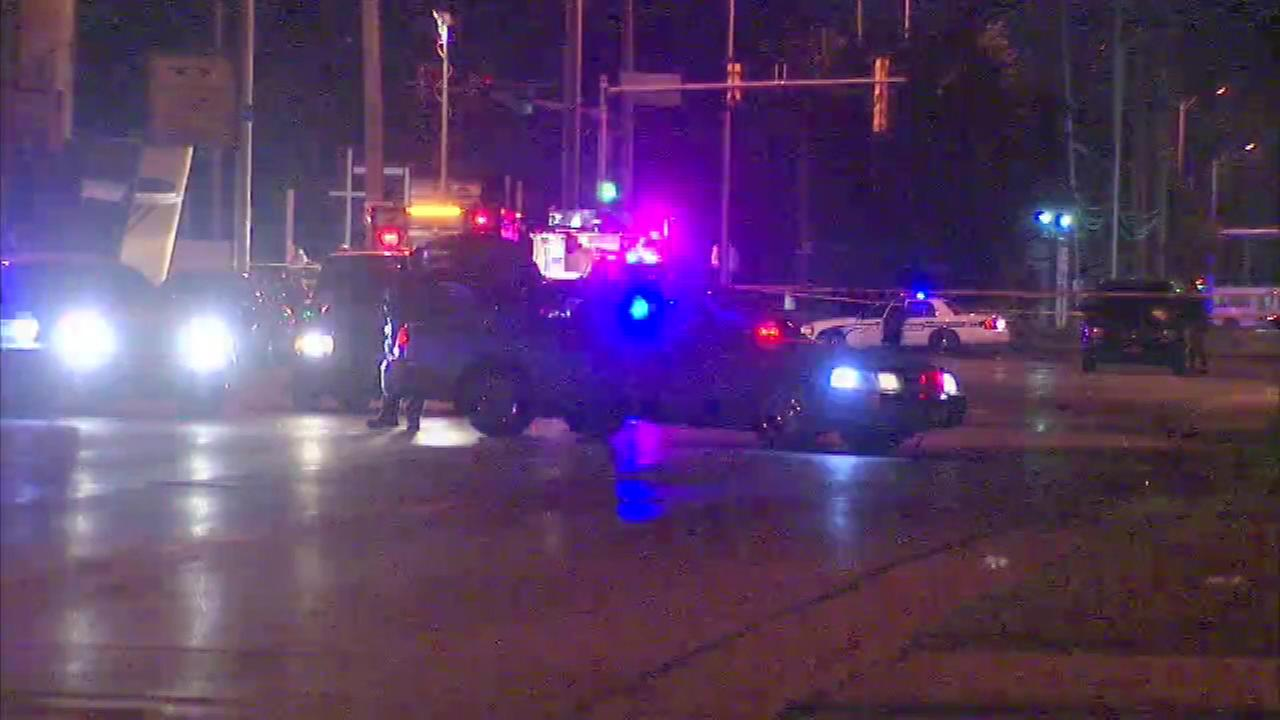 Police in south suburban Dolton apparently shot a person to death Saturday night.