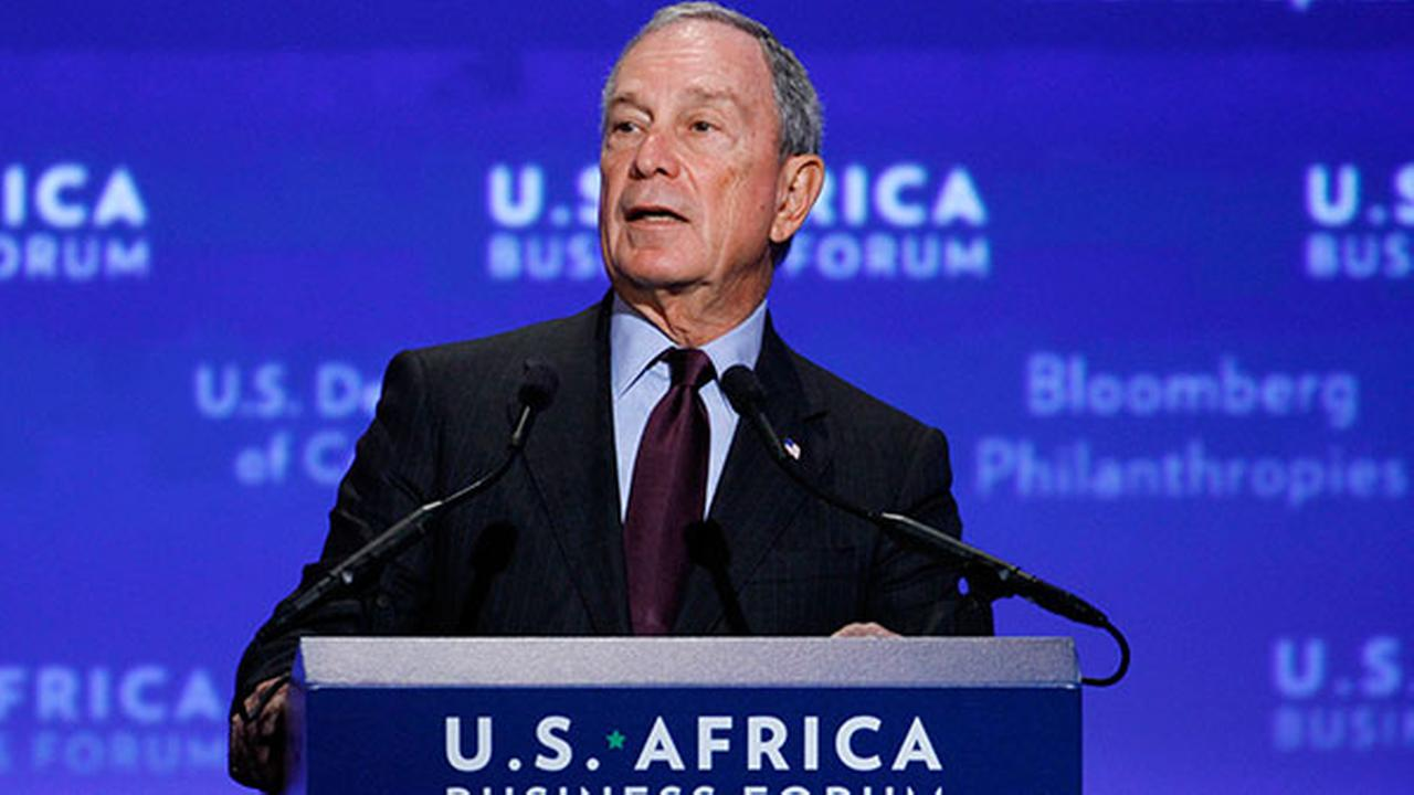 In this Aug. 5, 2014 file photo, Michael Bloomberg welcomes leaders to the U.S.-Africa Business Forum during the U.S.-Africa Leaders Summit in Washington, D.C.