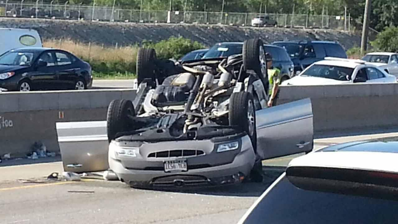 An Illinois State trooper is in critical condition Saturday night after getting struck on northbound I-294 near St. Charles Road.
