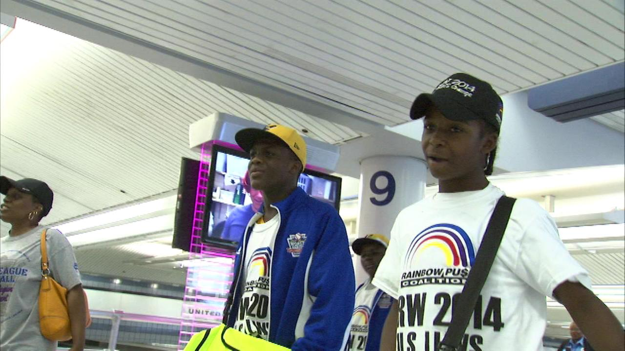 The Jackie Robinson West All Stars are back home after a weekend at Disney World and their coach says they had a ball.