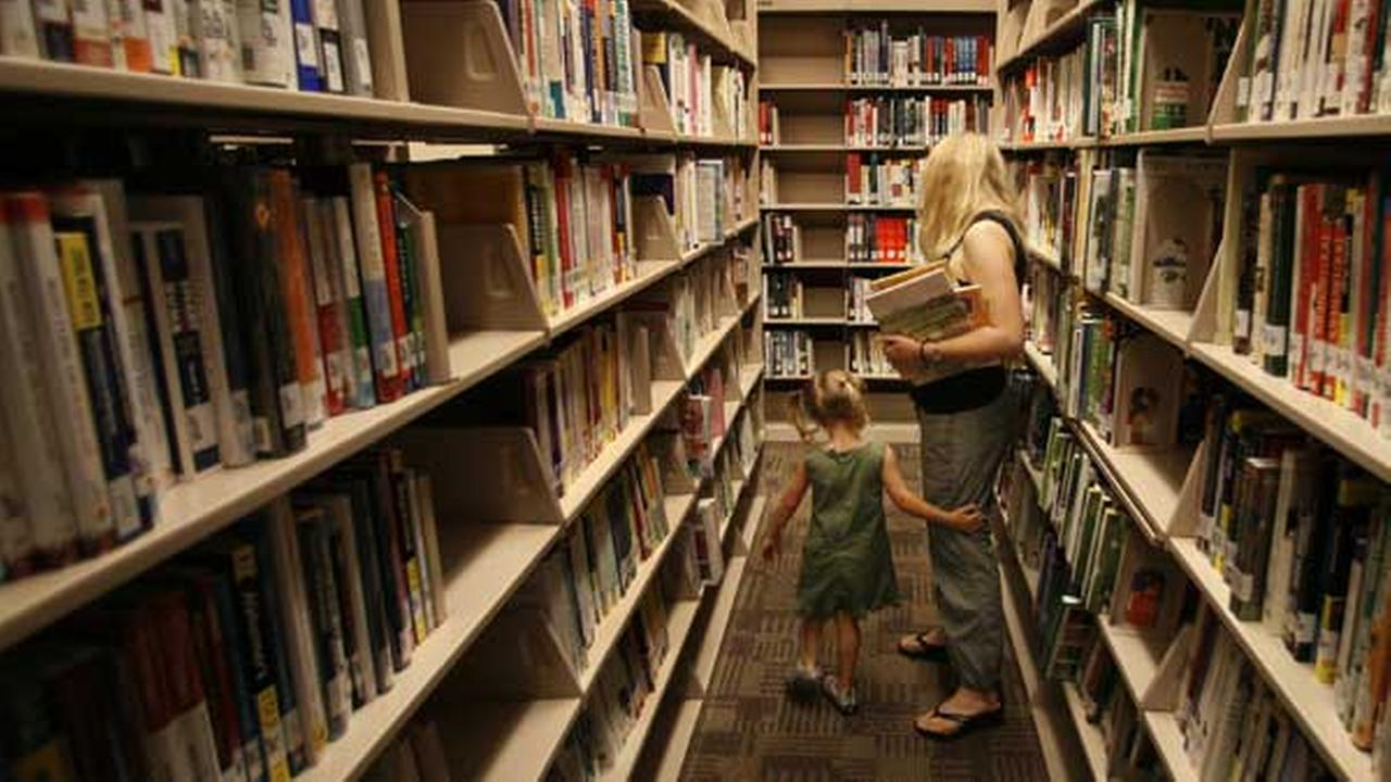 Chicagoans browse the Bucktown-Wicker Park branch of the Chicago Public Library. (File)