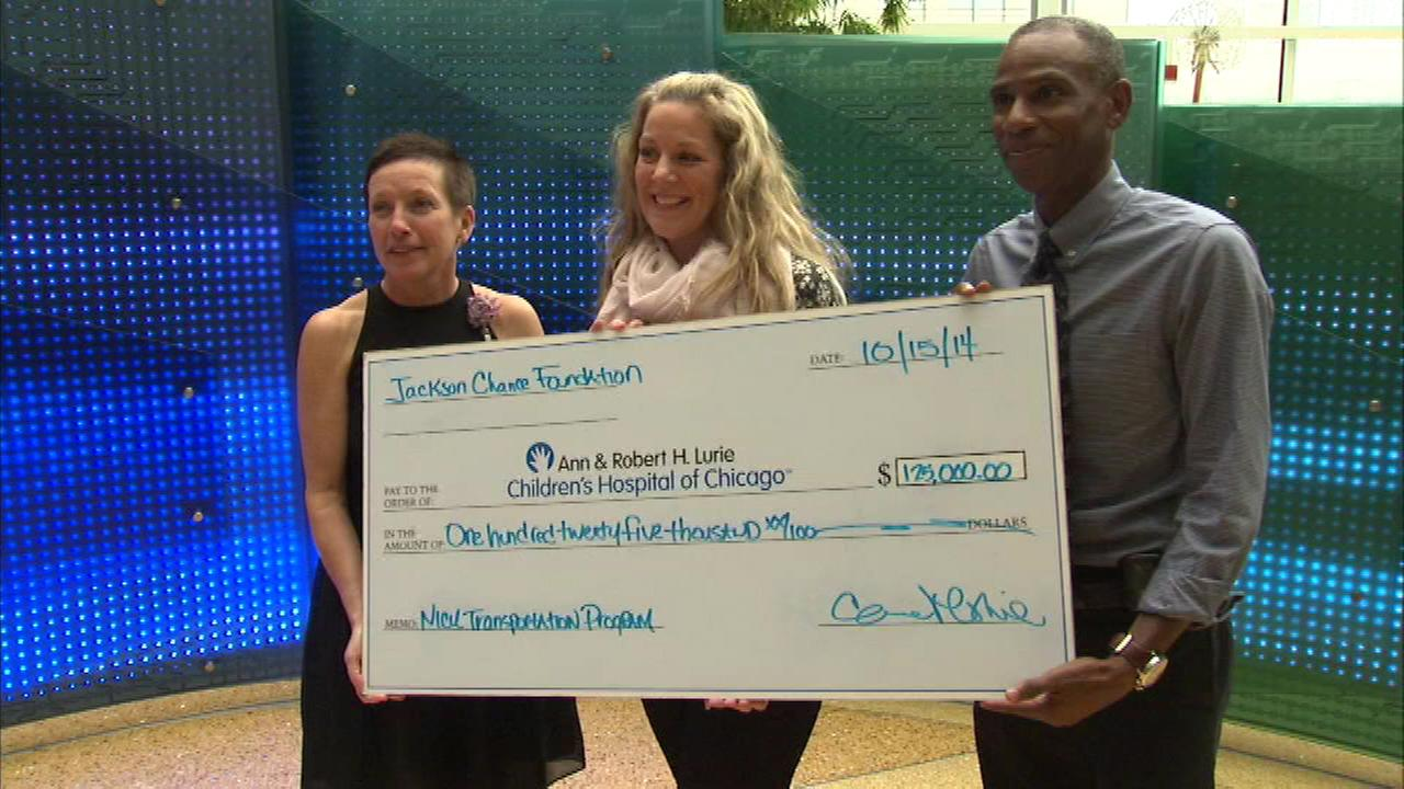 Carrie and Terry Meghie donated $125,000 in honor of their son Jackson Chance, who died in 2012.