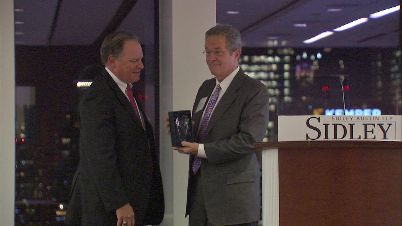 ABC7 Eyewitness News anchor Ron Magers received the Community Impact Award from the organization Chicago Lights.