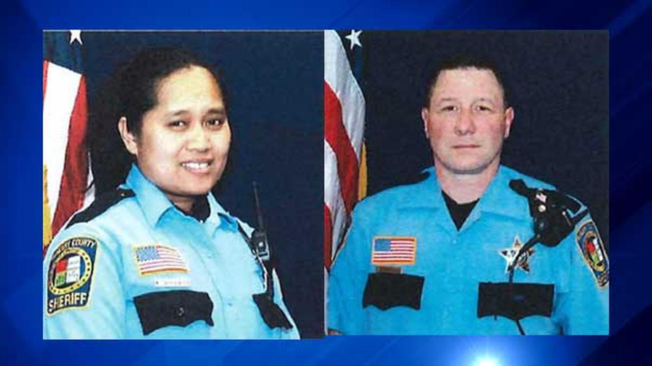 Sheriffs Deputies Khalia Satkiewicz and Dwight Maness.