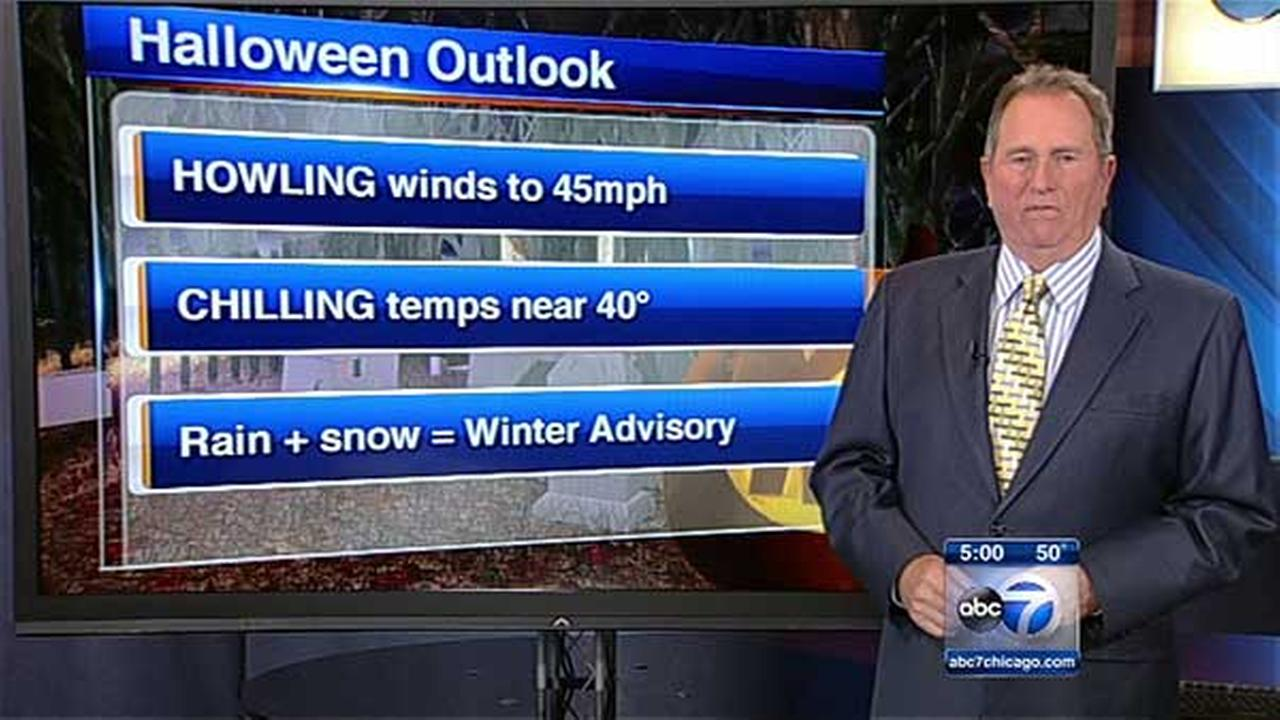 Chicago weather: Halloween forecast to be cold, wet, windy