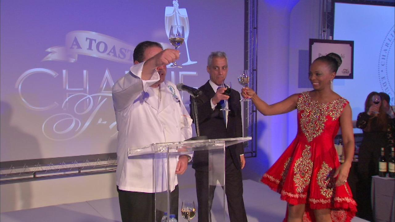 Chef Emeril Lagasse hosted a Toast to Charlie Trotter at Venue One on Wednesday night.