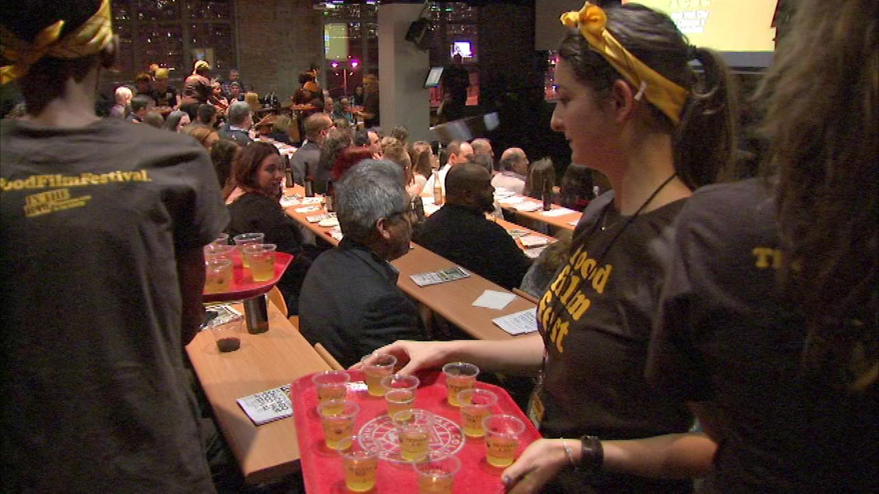 A film festival in Chicago brings together dinner and a movie, all in one place.