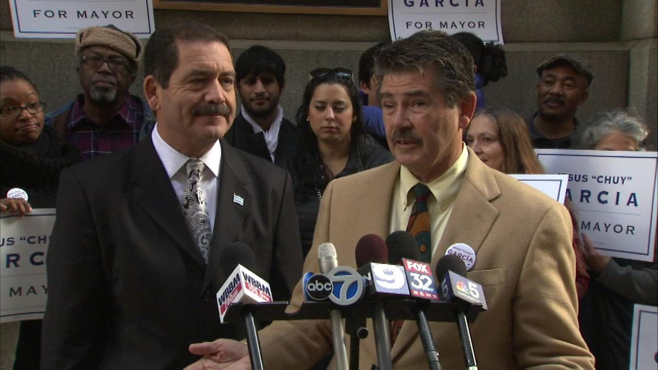 Cook Country Clerk David Orr (right) is endorsing Jesus Chuy Garcia to replace Rahm Emanuel for mayor.