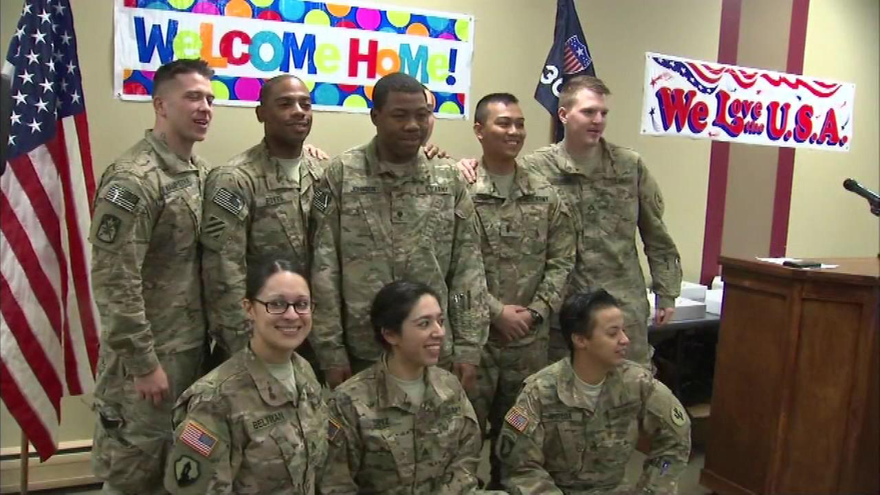 For 18 Chicago area families the holidays just got a little brighter, now that their loved ones are home from Afghanistan.