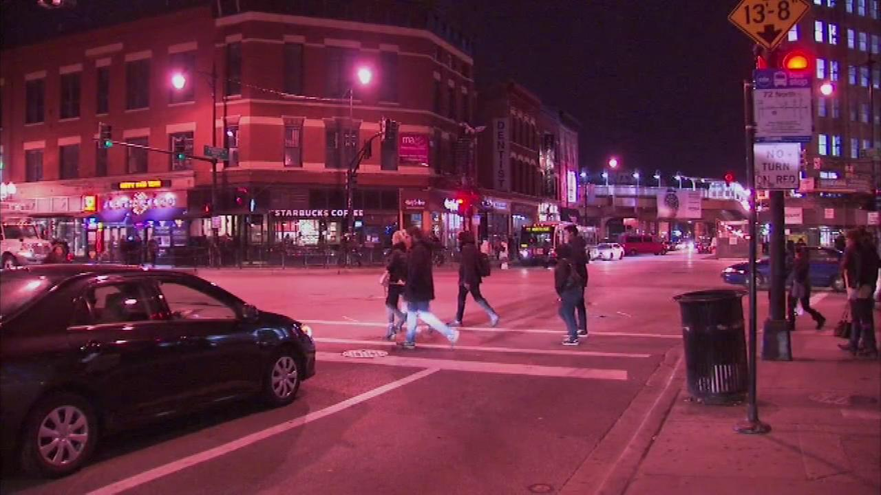 Police say a man was stabbed in the neck Friday evening shortly after getting off a CTA bus at North and Damen in the Wicker Park neighborhood.
