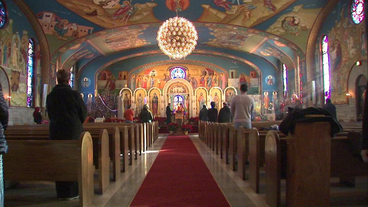 Eastern Orthodox Christians who follow the Julian calendar gathered Tuesday for a Christmas service.