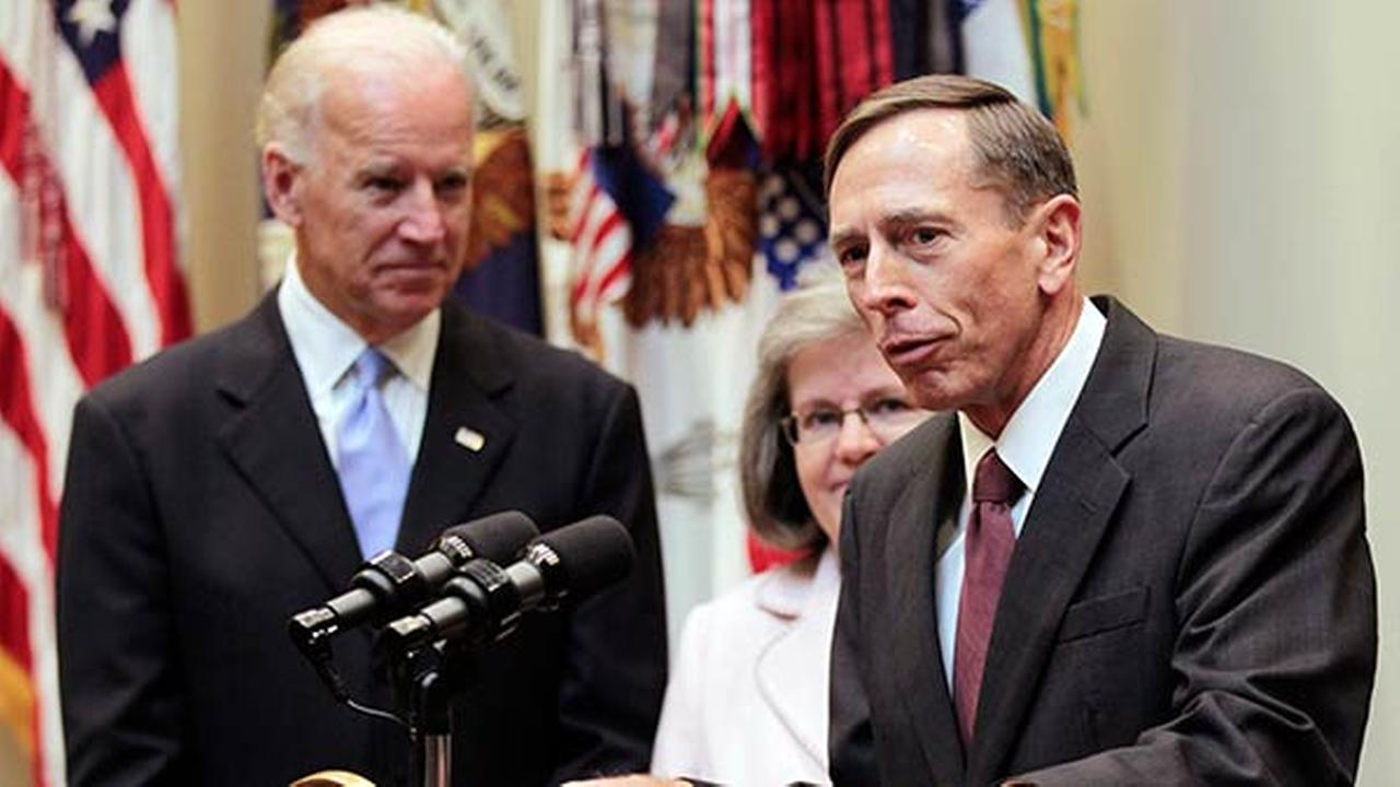 [FILE] Former CIA director David Petraeus, right, speaks following his swearing-in ceremony in the Roosevelt Room of the White House in Washington on Sept. 6, 2011.