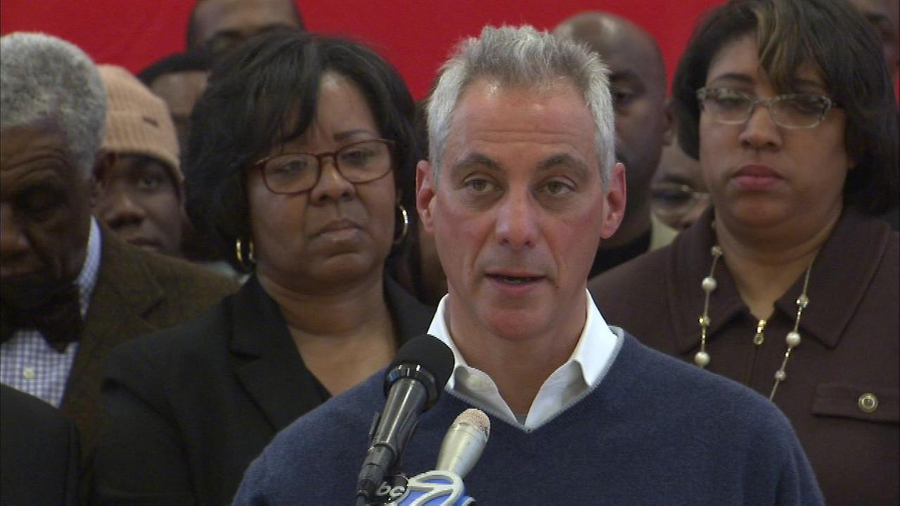 At a campaign event Saturday a group of African-American leaders endorsed Mayor Rahm Emanuel for re-election.