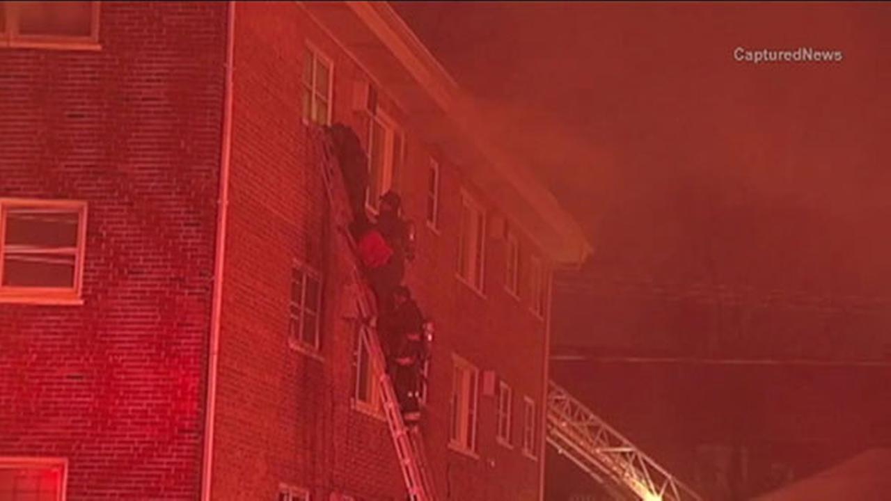 9 rescued from South Side extra-alarm fire