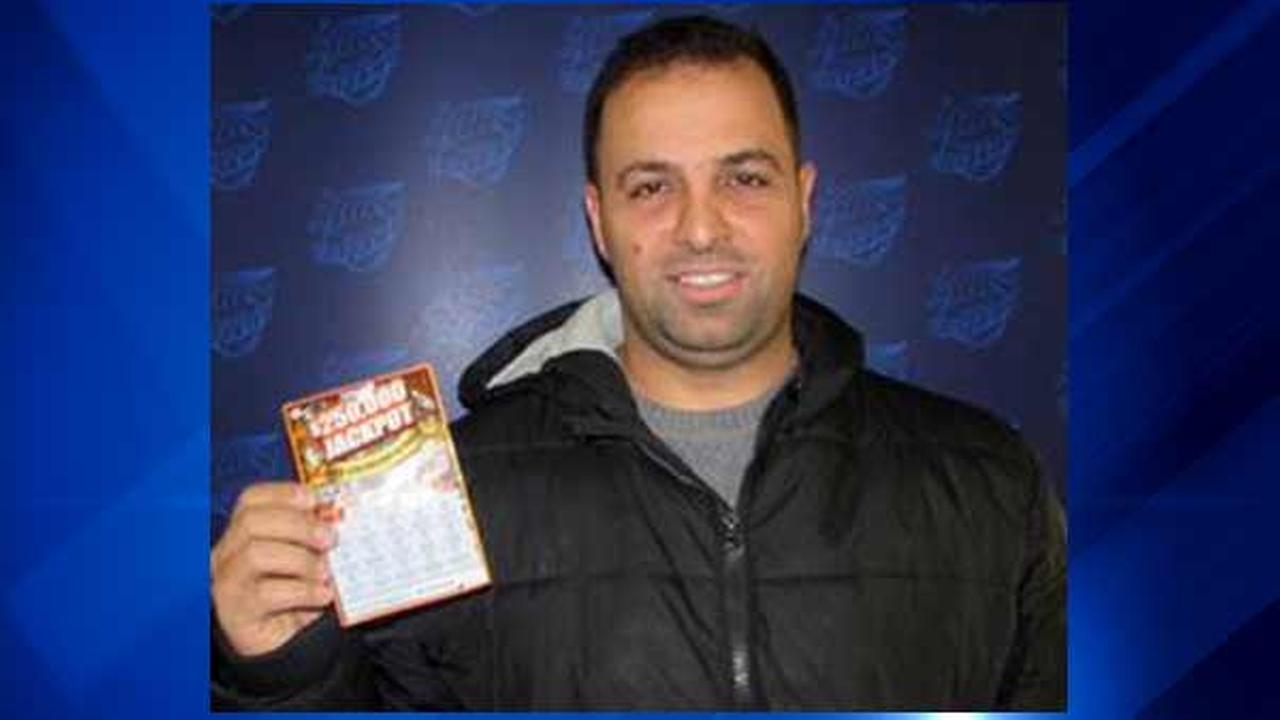 Steven Baqleh, 36, won $250,000 in the Illinois Lottery $250,000 Jackpot instant game.
