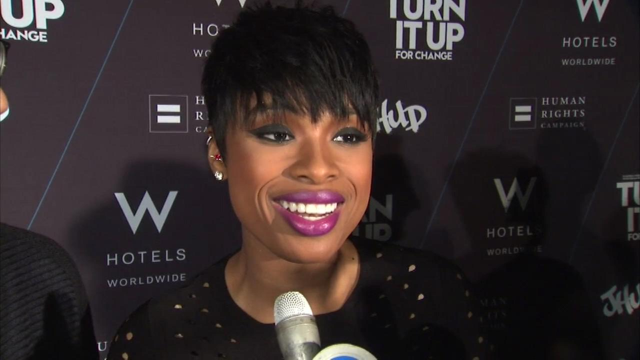 Jennifer Hudson appeared at the W Hotels Turn It Up For Change fundraiser on Wednesday night.