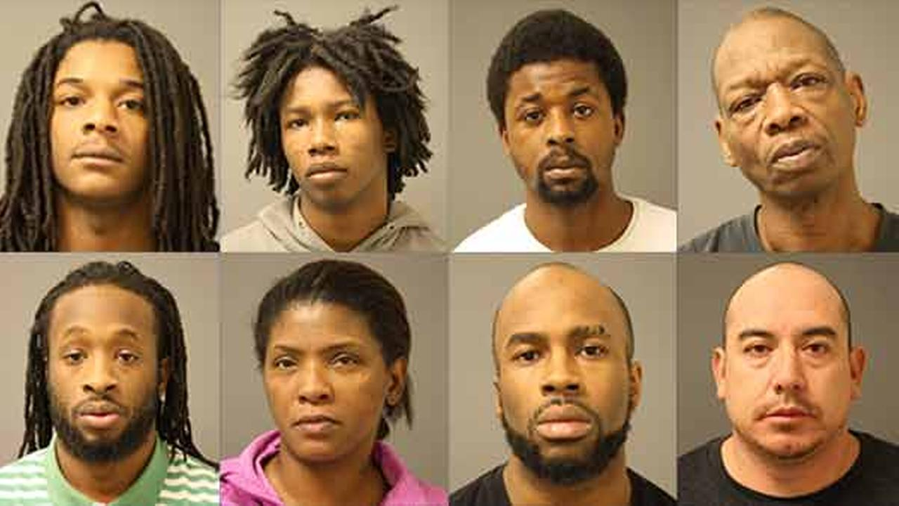 Top (from left): Jawaan Chick, William Hill, Taylon Hughes, Jimmie Kelly. Bottom (from left): Shaquille Middleton, Sabrina Morris, Charles Ray, Arnulfo Sanchez.