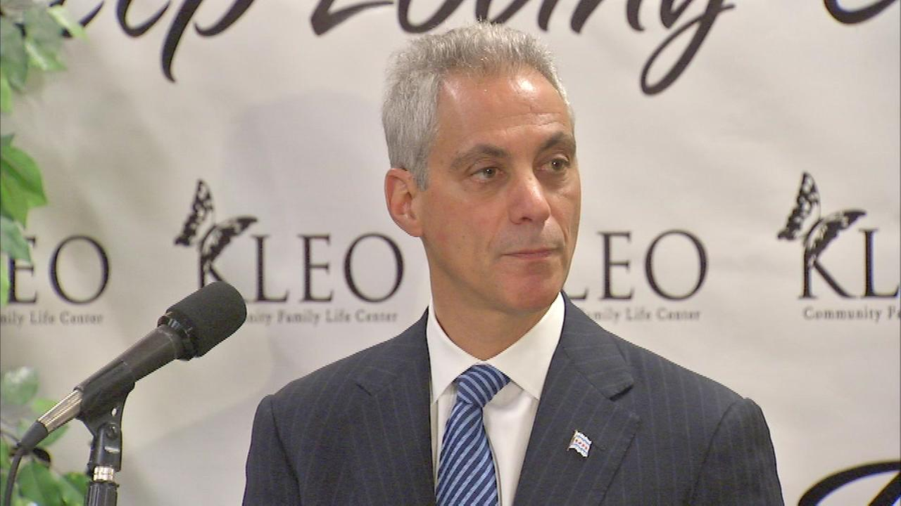 Mayor Rahm Emanuel is pledging to bring safety and security to every neighborhood if he wins reelection.