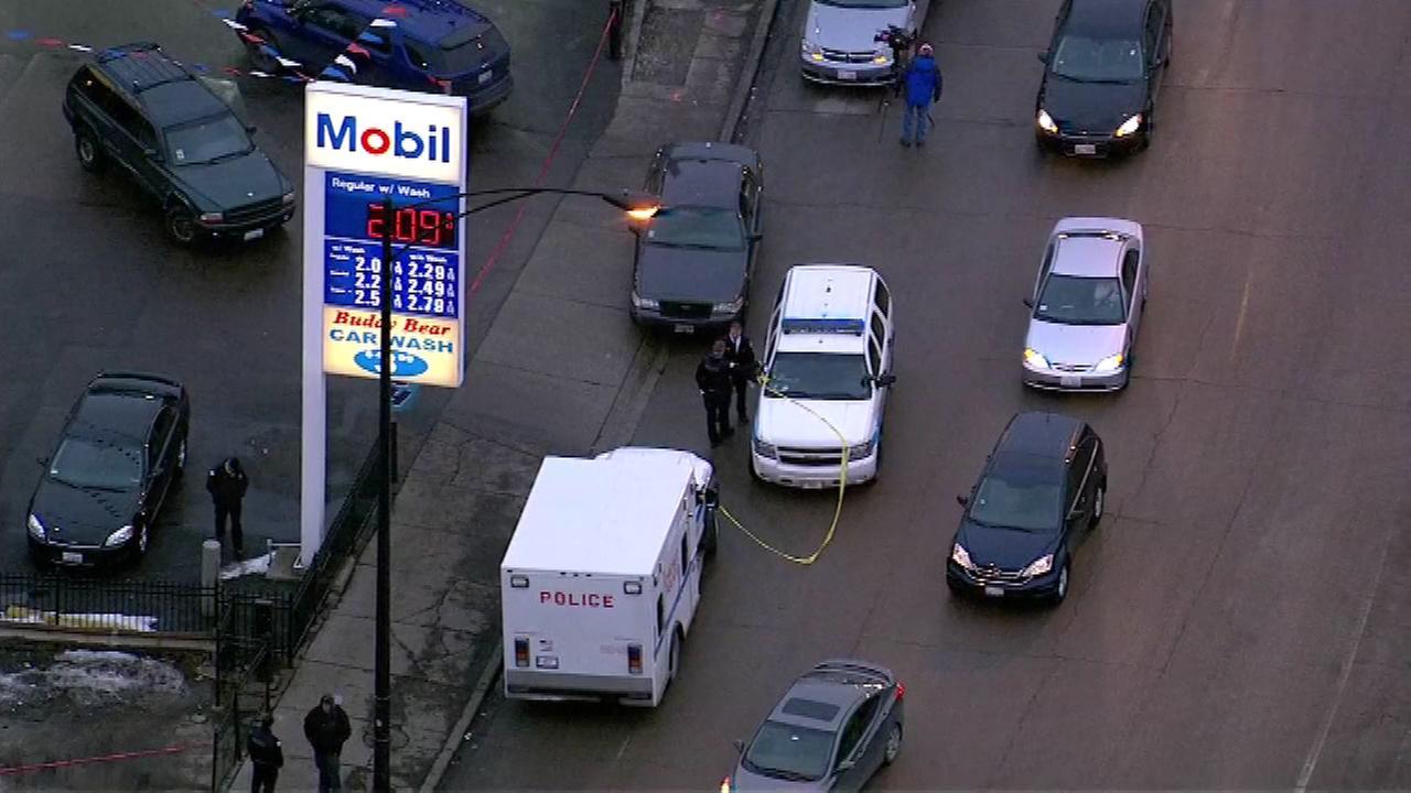 2 shot at West Side gas station