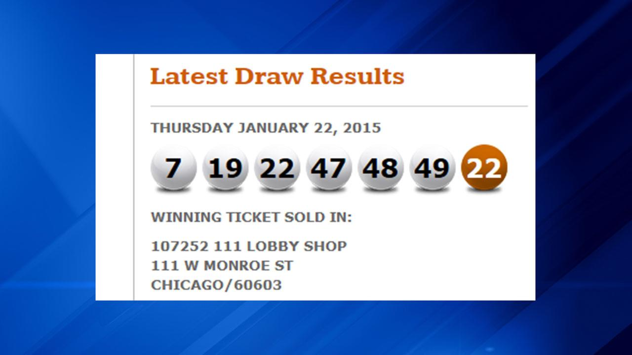 $16M jackpot lottery ticket sold in Chicago