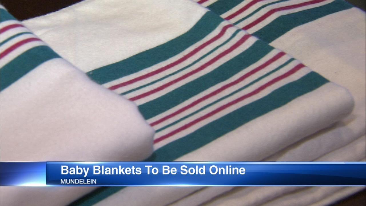 Pink, blue striped hospital baby blankets to be sold on Amazon