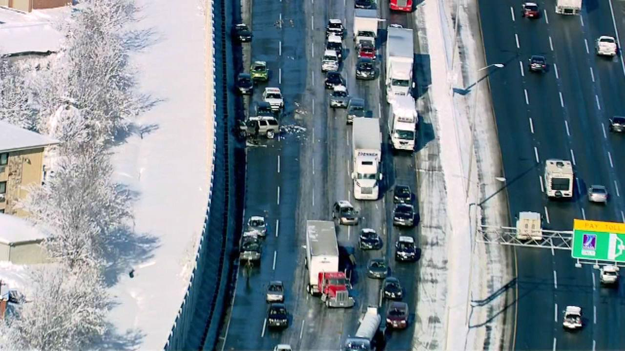 PHOTOS: Multi-vehicle crash closes I-294 near Hickory Hills