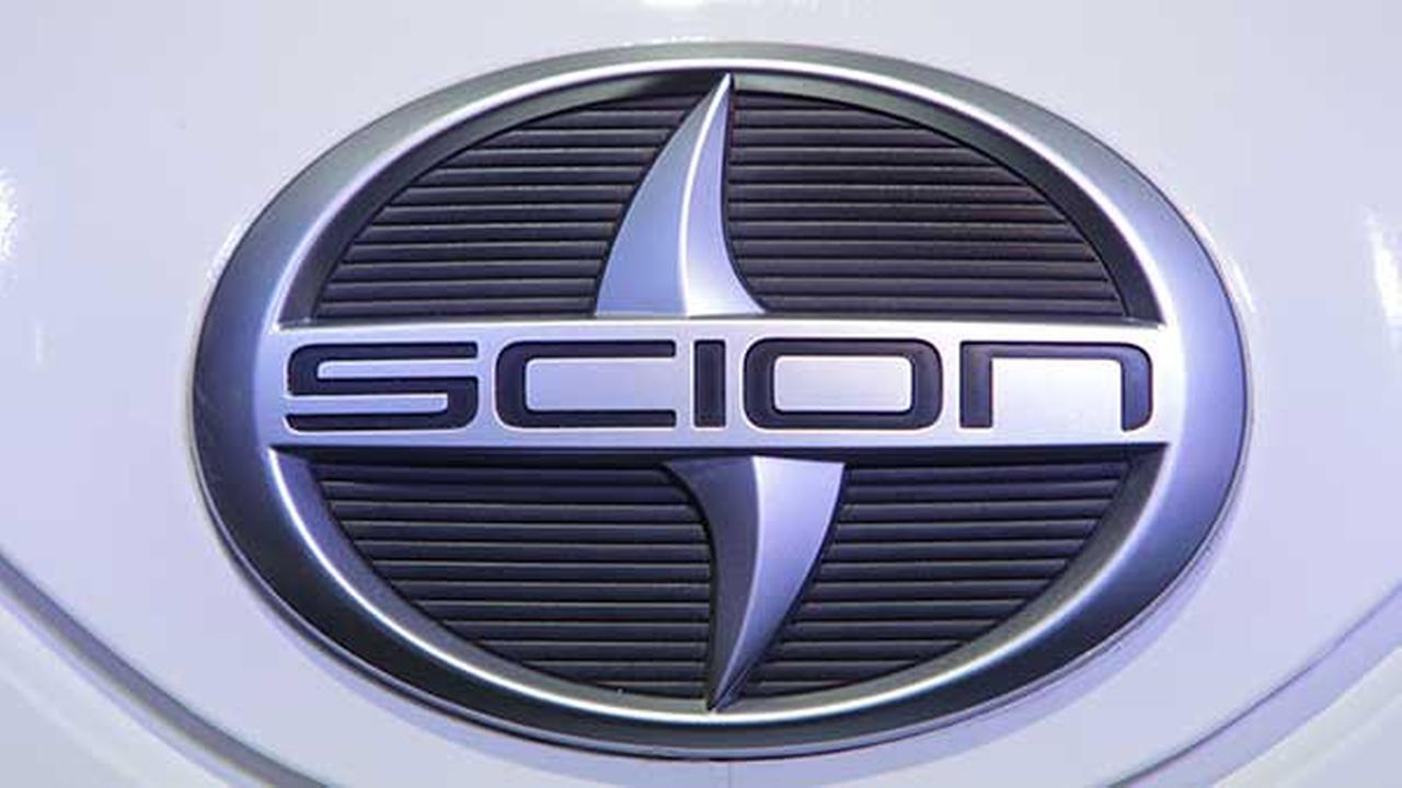 A Scion logo is seen at the North American International Auto Show in Detroit on Jan. 11, 2011.