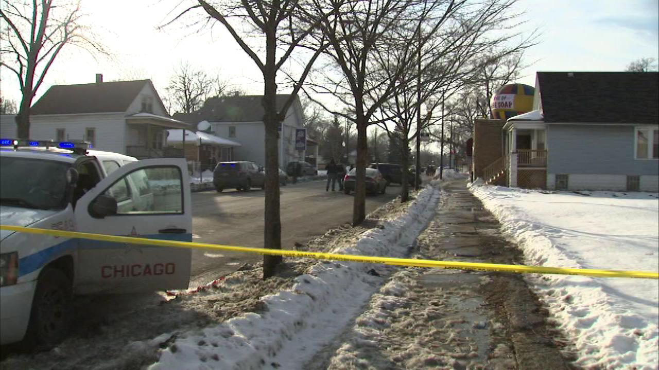 Chicago Police shot a man Saturday after they say he tried to hit an officer with his car.