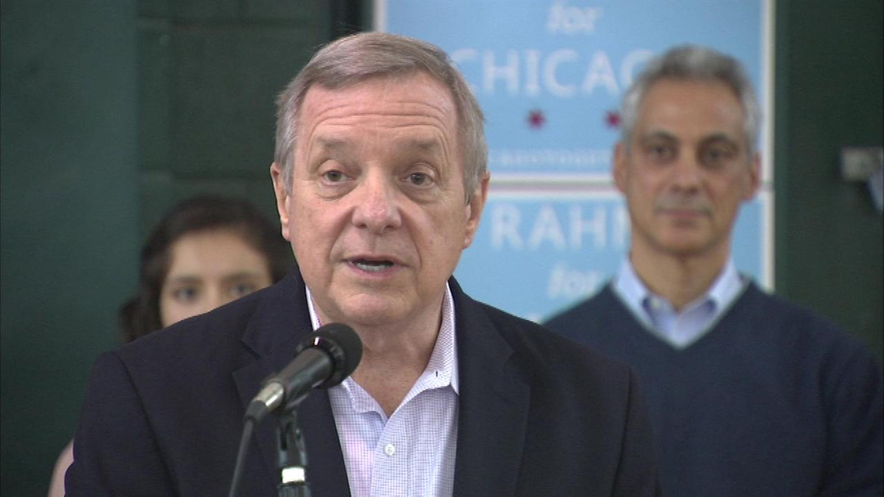 Rahm Emanuel picked up an endorsement Sunday afternoon from Senator Dick Durbin in the mayors bid for re-election.