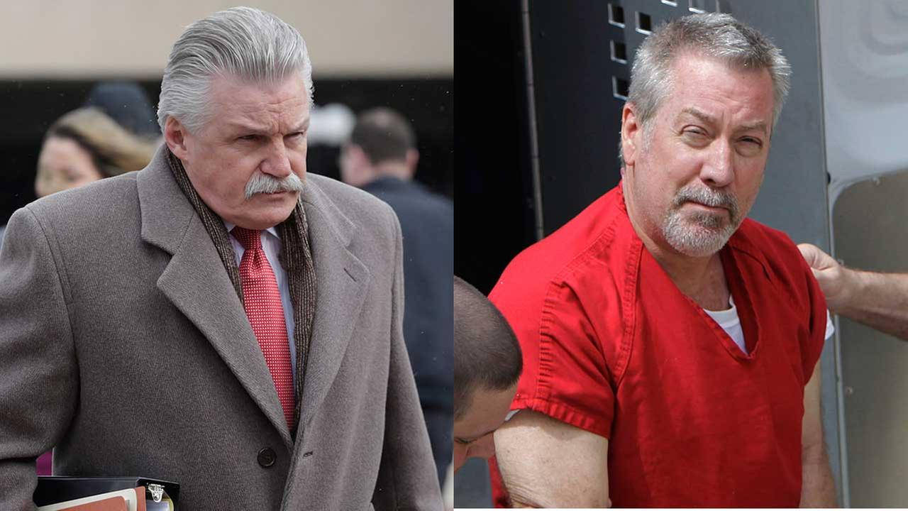Will County States Attorney James Glasgow and convicted wife-killer Drew Peterson (FILE).