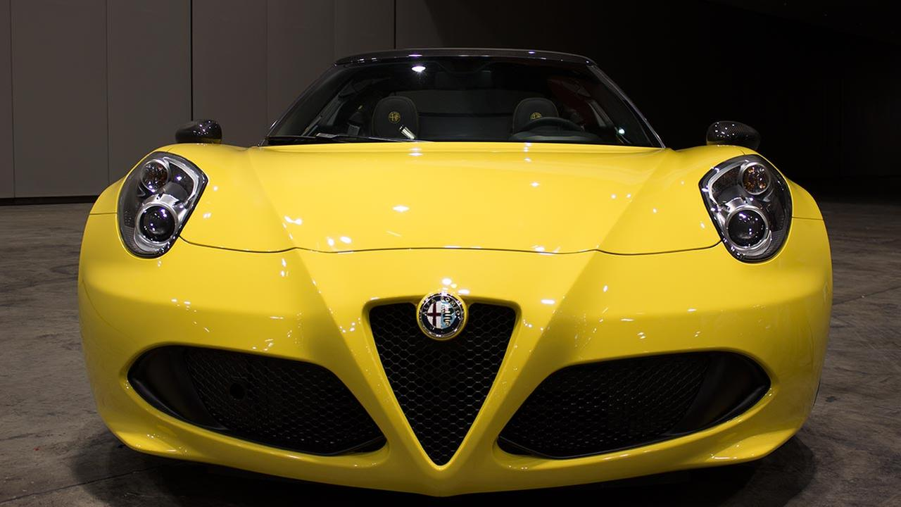 The 2016 Alfa Romeo 4C Spider during the Concept and Technology Garage event at the 2015 Chicago Auto Show on Feb. 11, 2015.