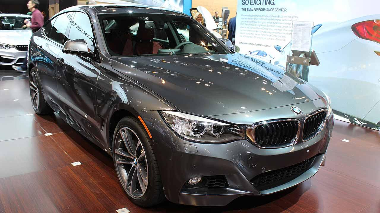 The 2015 BMW 335i xDrive Gran Turismo on display at the Chicago Auto Show on Feb. 13, 2015.