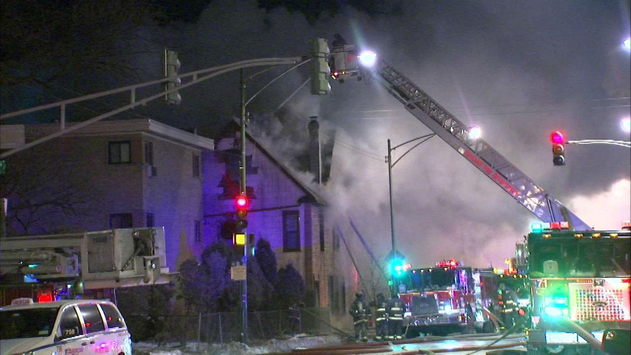 Firefighters battle subzero temps, house fire