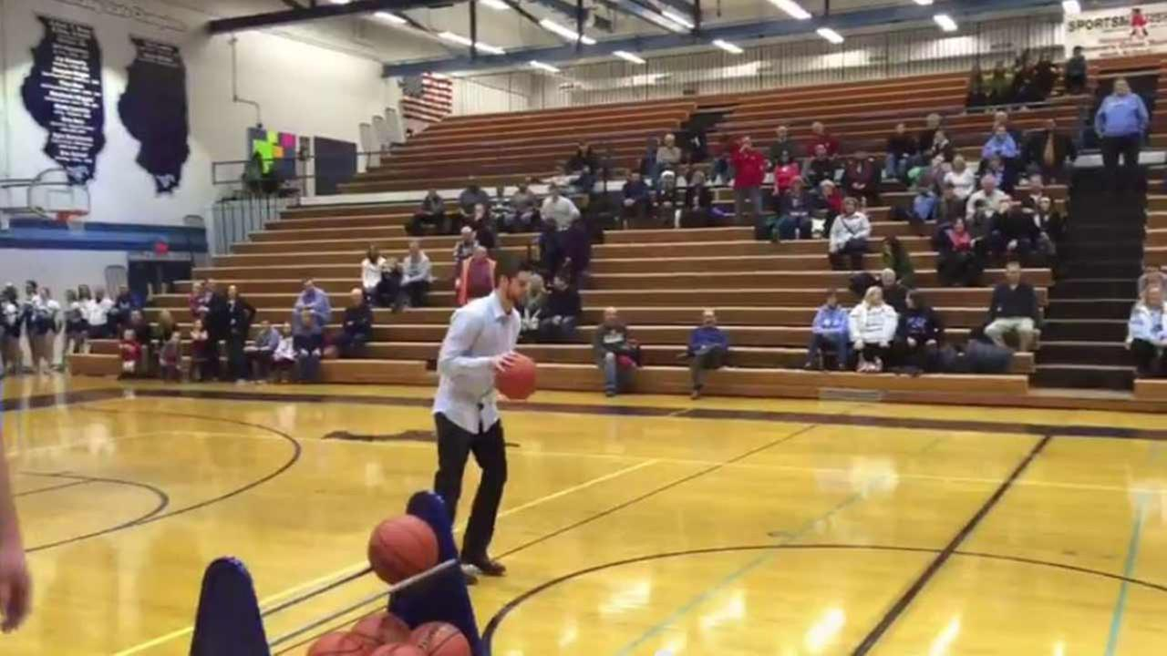 VIDEO: Downers Grove brothers hit half court shots
