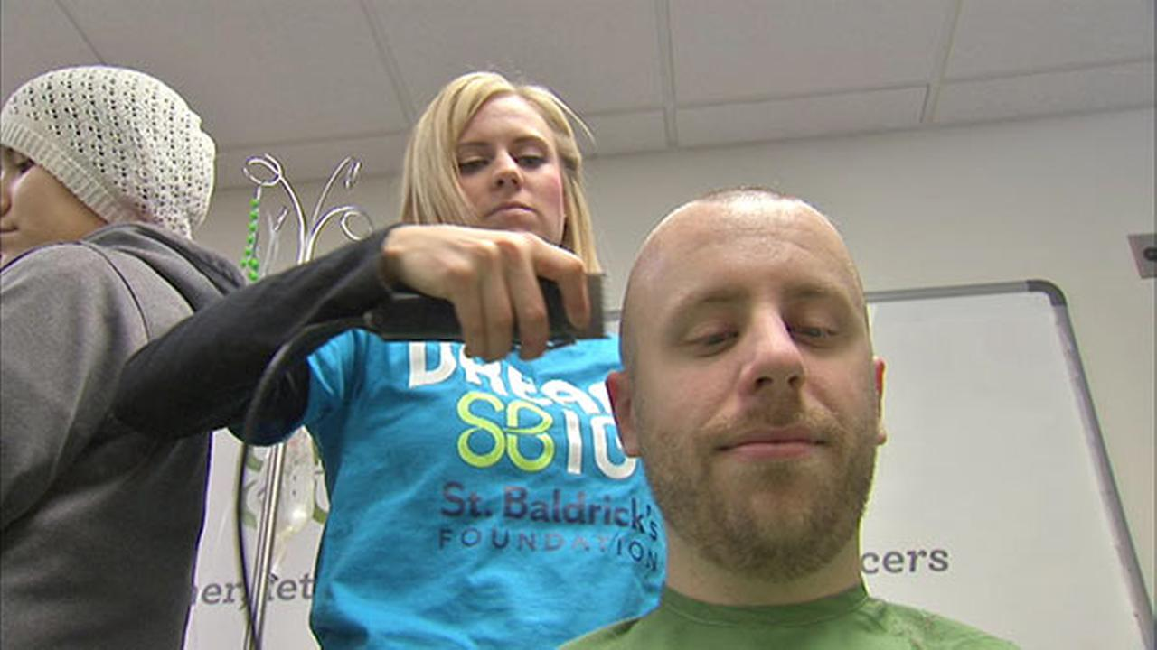 UIC hospital shaves heads for annual St. Baldrick's fundraiser