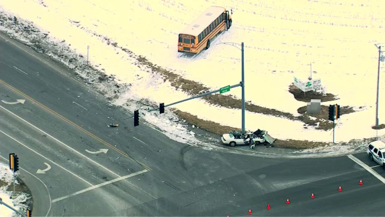 10 students injured in Montgomery school bus crash