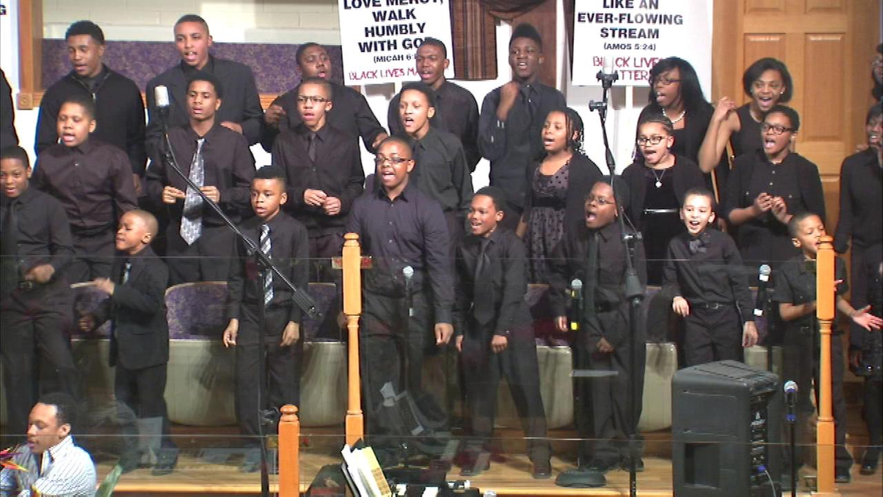 A special gospel performance in Chicago Saturday evening in the Bronzeville neighborhood was a special showcase ahead of the Chicago Gospel Music Festival coming up in May.