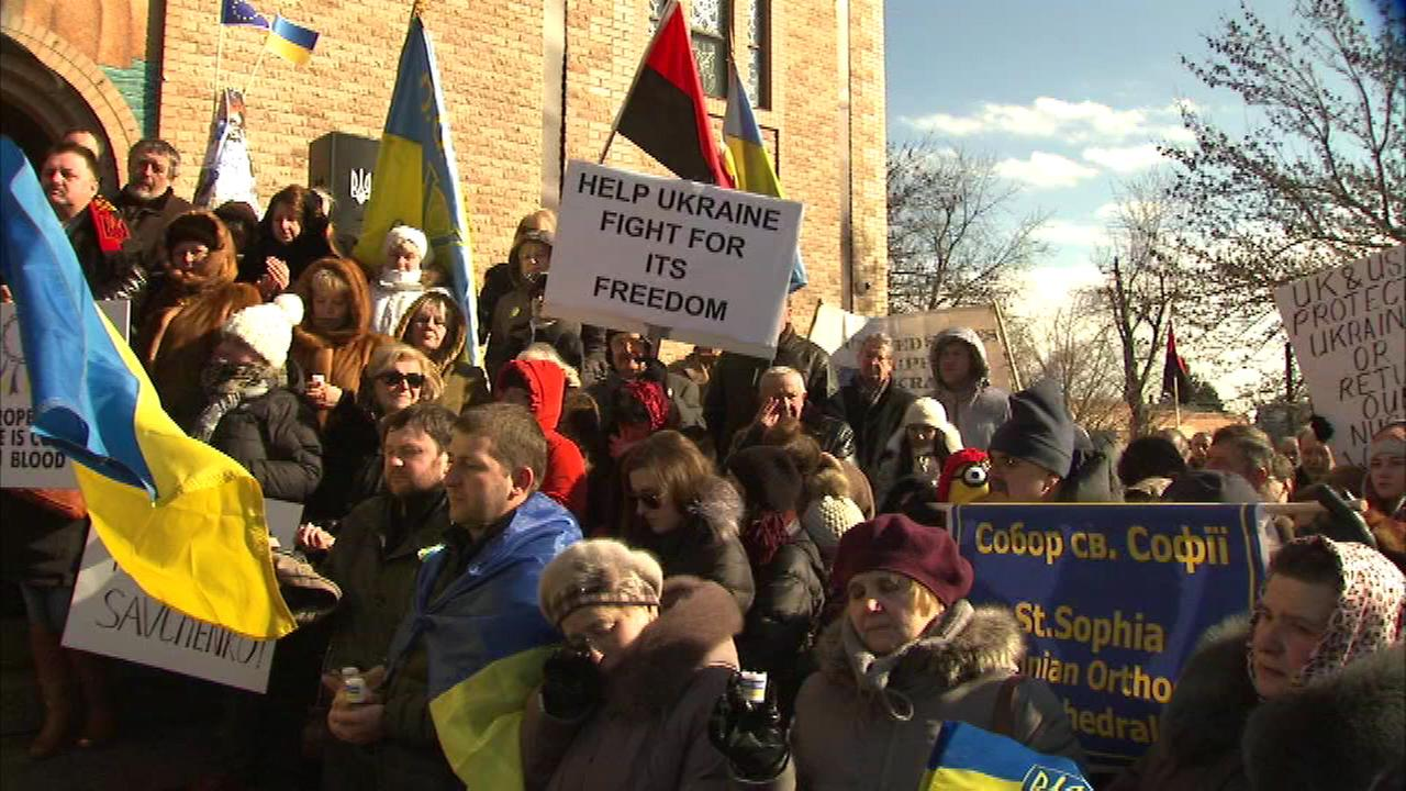 People in Chicago and around the world are paying tribute to those who lost their lives in the violence in Ukraine.