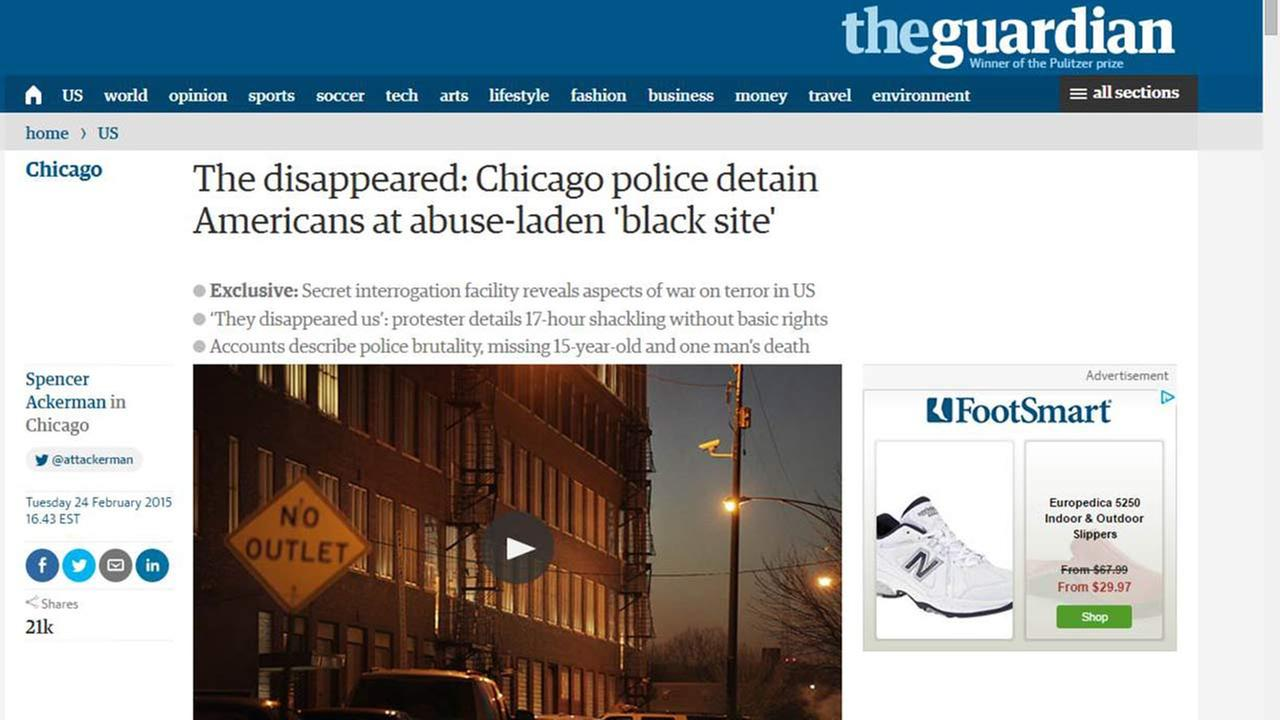 Chicago police dispute they operate CIA-style 'black site'