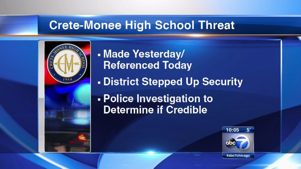 Threat prompts increased security at Crete-Monee HS