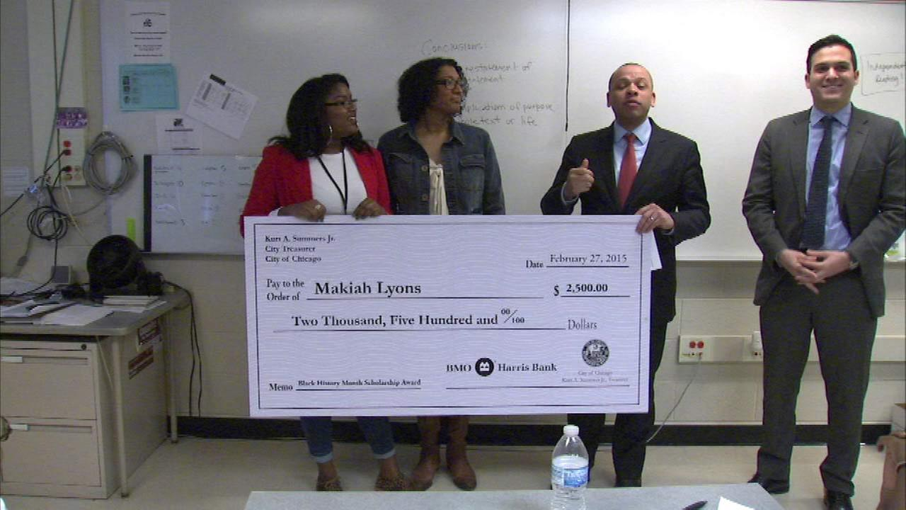 Chicago teen wins Black History Month scholarship