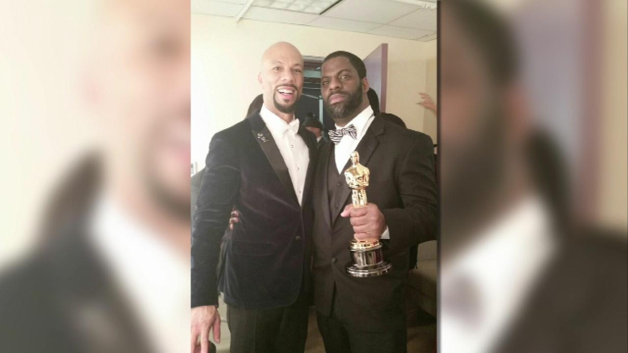 Rhymefest (right) helped write the Oscar-winning song Glory with Common (left) and John Legend (not pictured).