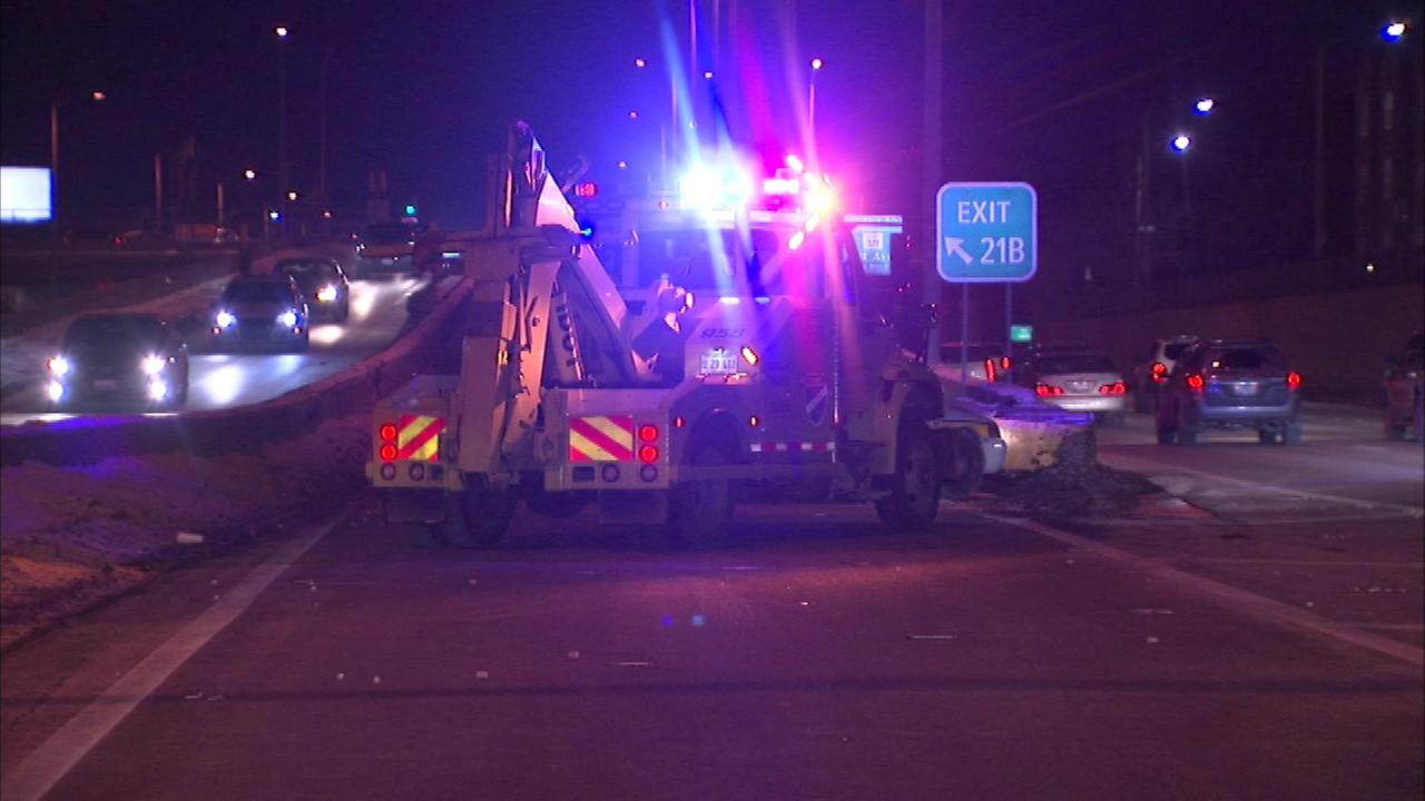 A person was injured in a shooting on a ramp to the Eisenhower Expressway in Oak Park, state police said.