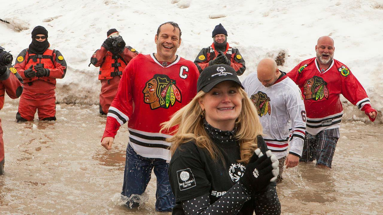 Vince Vaughn takes part in the Chicago Polar Plunge