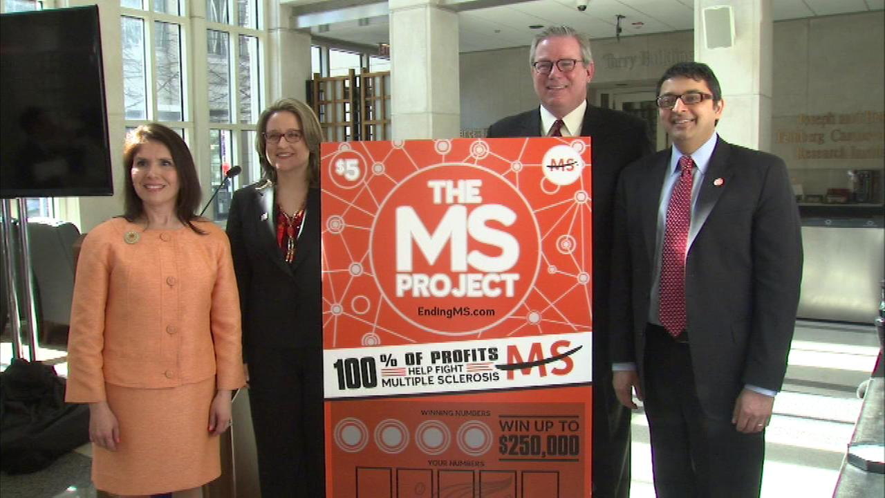 People who buy a new Illinois Lottery ticket could win $250,000 and help find a cure for multiple sclerosis.