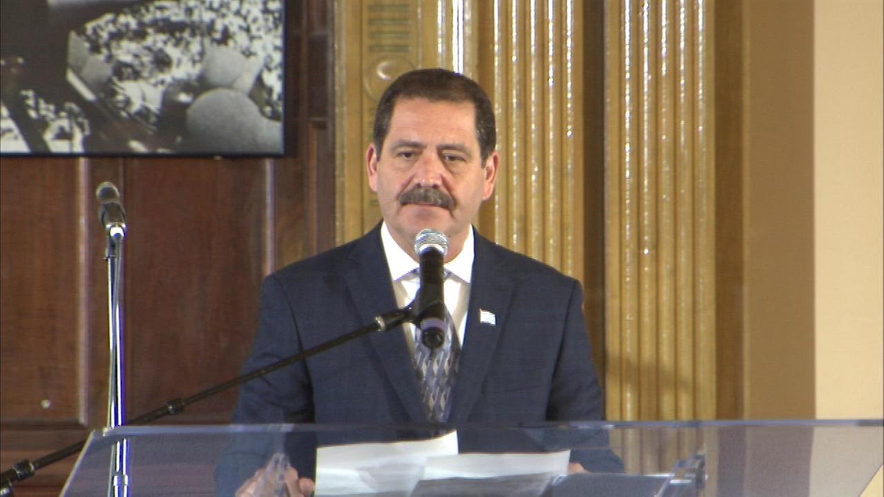 Jesus Chuy Garcia spoke at Rainbow PUSH Headquarters Saturday morning.