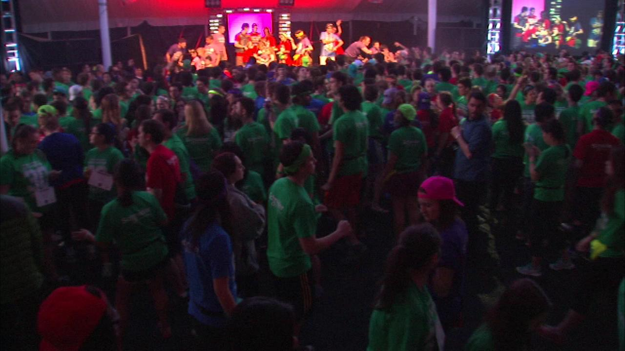 Hundreds of college students at Northwestern University are dancing the weekend away for a good cause.