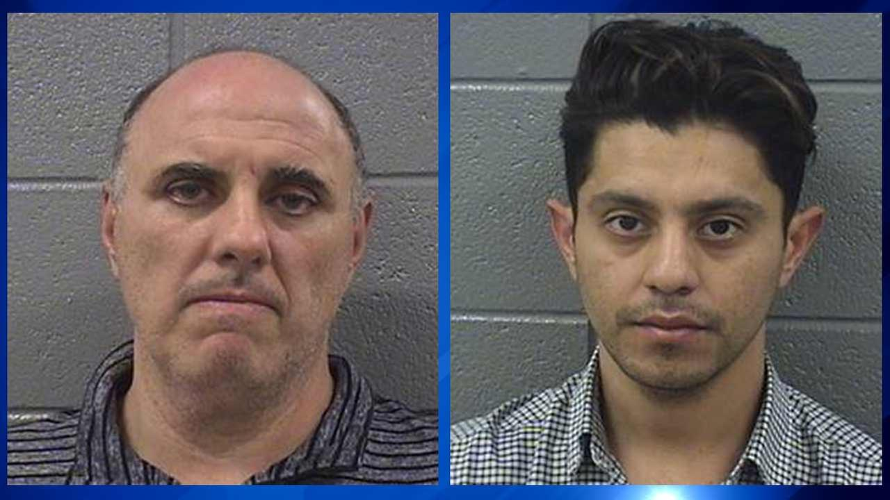Vito Stramaglia, 47, of Ohio (left), and Hugo Santa Maria, 28, of California, have been charged with misdemeanor animal cruelty.